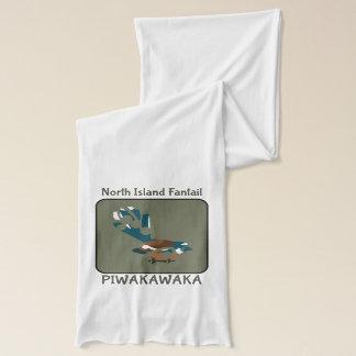 Piwakawakaニュージーランドの鳥 スカーフ