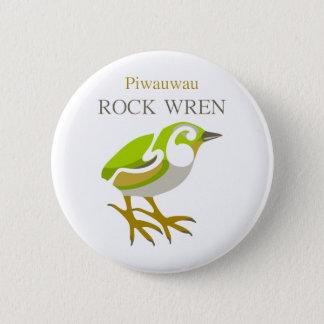 PIWAUWAUのニュージーランドの鳥、石ミソサザイ 5.7CM 丸型バッジ