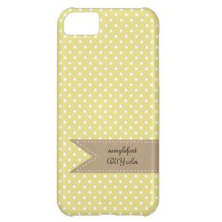 PixDezinesのかなり大きく白い水玉模様かdiy色 iPhone5Cケース