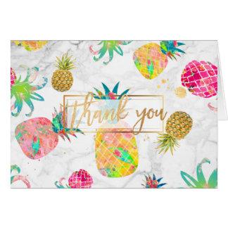 PixDezinesのアロハパイナップルはまたは感謝していしています ノートカード