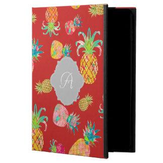 PixDezinesのアロハパイナップル+花の水彩画 Powis iPad Air 2 ケース