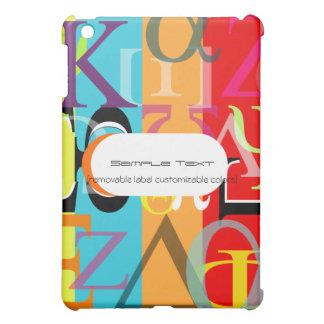 PixDezinesのギリシャのアルファまたは背景のカスタマイズ可能な♥♥♥ iPad Miniカバー
