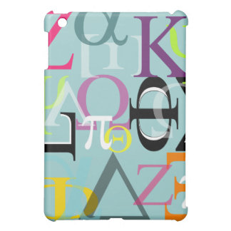 PixDezinesのギリシャのアルファまたは背景のカスタマイズ可能な♥♥♥ iPad Miniケース