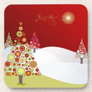 PixDezinesのクリスマスツリー コースター