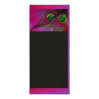 PixDezinesのサイケデリックな孔雀は、それをカスタマイズ! ラックカード