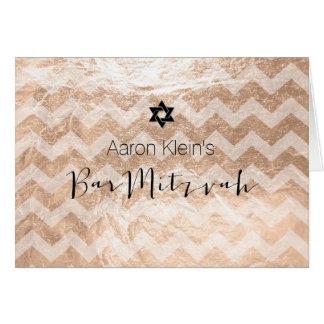 PixDezinesのスタイリッシュな写真のバー(ユダヤ教の)バル・ミツバーか模造のなホイル カード