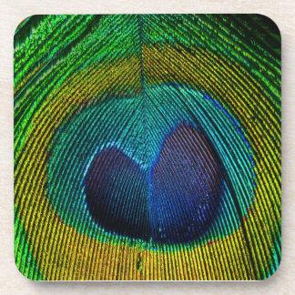PixDezinesのネオンかサイケデリックな孔雀の目 コースター