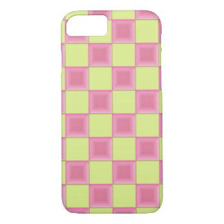 PixDezinesのピンクキャンデー+緑のチェッカー iPhone 8/7ケース