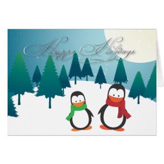 PixDezinesのホリデーカード、ペンギン カード