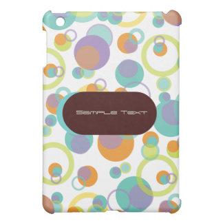 PixDezinesのモダンな泡、背景のカスタマイズ可能な♥♥♥ iPad Miniカバー
