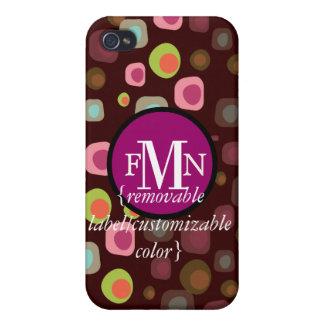 PixDezinesのレトロのオリーブ、カスタムな色の♥♥♥♥ iPhone 4/4Sケース
