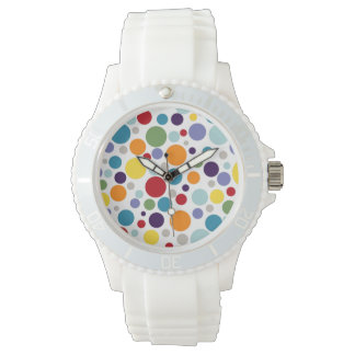 PixDezinesのレトロの水玉模様 腕時計
