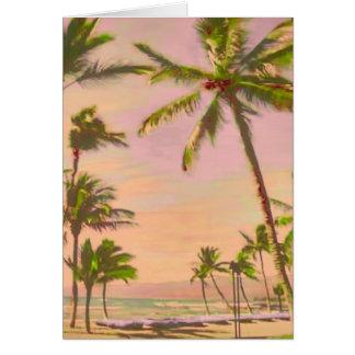 PixDezinesのヴィンテージのハワイのビーチかDIYcolor! ノートカード