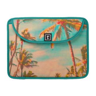 PixDezinesのヴィンテージのハワイのビーチ場面 MacBook Proスリーブ