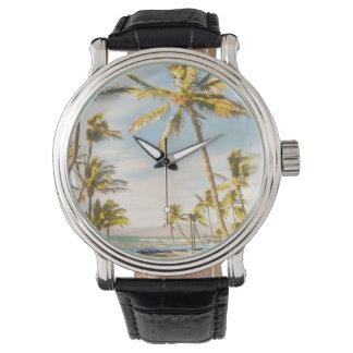 PixDezinesのヴィンテージのハワイのビーチ 腕時計