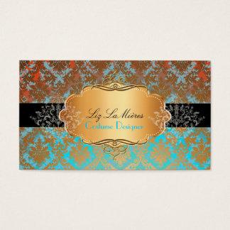 PixDezinesのヴィンテージのlaのパロマのダマスク織 名刺