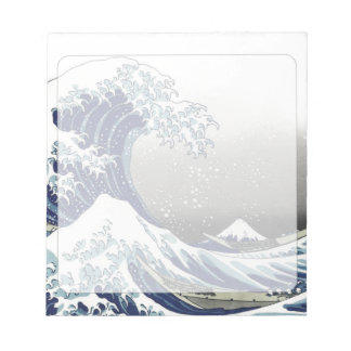 PixDezinesのヴィンテージ、素晴らしい波、Hokusaiの葛飾北斎の神奈川沖浪 ノートパッド