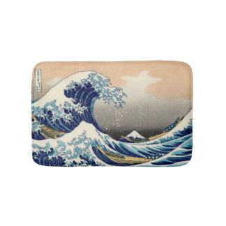 PixDezinesのヴィンテージ、素晴らしい波、Hokusaiの葛飾北斎の神奈川沖浪 バスマット