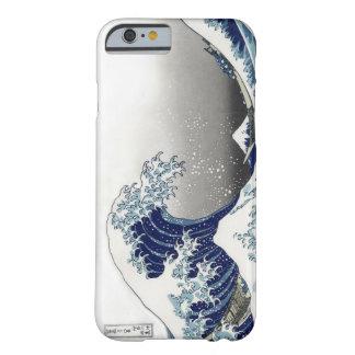 PixDezinesのヴィンテージ、素晴らしい波、Hokusaiの葛飾北斎の神奈川沖浪 Barely There iPhone 6 ケース