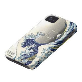 PixDezinesのヴィンテージ、素晴らしい波、Hokusaiの葛飾北斎の神奈川沖浪 Case-Mate iPhone 4 ケース