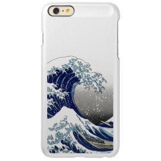 PixDezinesのヴィンテージ、素晴らしい波、Hokusaiの葛飾北斎の神奈川沖浪 Incipio Feather Shine iPhone 6 Plusケース