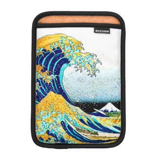 PixDezinesのヴィンテージ、素晴らしい波、Hokusaiの葛飾北斎の神奈川沖浪 iPad Miniスリーブ