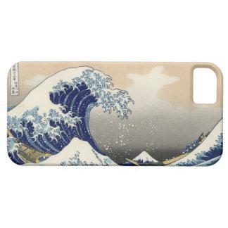 PixDezinesのヴィンテージ、素晴らしい波、Hokusaiの葛飾北斎の神奈川沖浪 iPhone SE/5/5s ケース