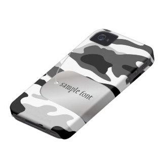 PixDezinesの北極迷彩柄+犬+ラベル Case-Mate iPhone 4 ケース