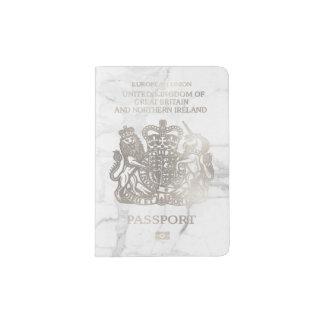 PixDezinesの大理石かのどの銀またはイギリス パスポートカバー
