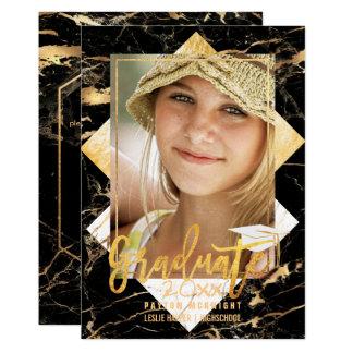 PixDezinesの大理石の卒業ののどの金ゴールド カード