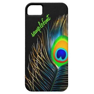 PixDezinesの孔雀の羽毛のdiy背景色 iPhone SE/5/5s ケース