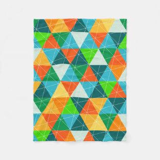 PixDezinesの幾何学的な深緑色かオレンジまたはティール(緑がかった色) フリースブランケット