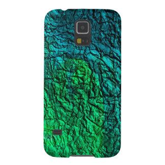 PixDezinesの模造のな金属または孔雀色 Galaxy S5 ケース