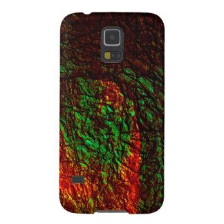PixDezinesの模造のな金属または溶岩流 Galaxy S5 ケース