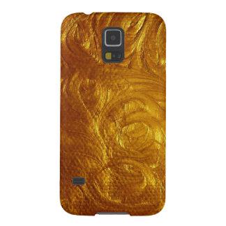 PixDezinesの模造のな金属または金ゴールドの許可 Galaxy S5 ケース