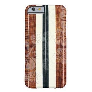 PixDezinesの波板かハイビスカスまたはのどKoa Barely There iPhone 6 ケース