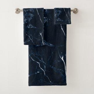 PixDezinesの真夜中の青い大理石 バスタオルセット