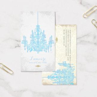 PixDezinesの穏かな青chandelier/DIY色 名刺