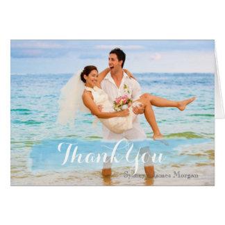 PixDezinesの結婚式の写真のサンキューカード カード