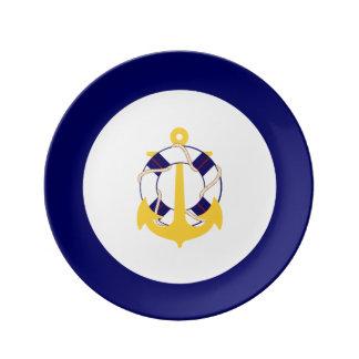 PixDezinesの航海のなかdiy trimcolor 磁器プレート