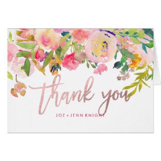 PixDezinesの花の水彩画か写真は感謝していしています カード