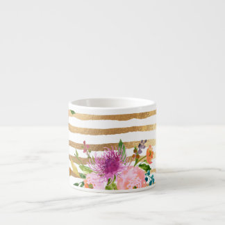 PixDezinesの花柄か水彩画またはranunculus エスプレッソカップ