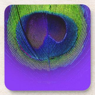 PixDezinesの豪華な孔雀の目かコバルト+緑 コースター