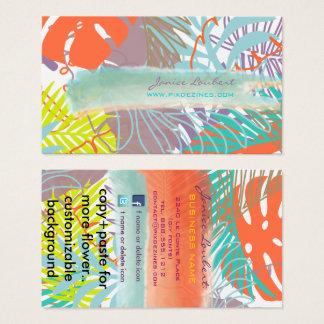PixDezinesの雨林か熱帯foliage/DIY色 名刺