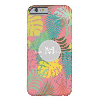 PixDezinesの雨林かfoliage/DIYの背景色 Barely There iPhone 6 ケース