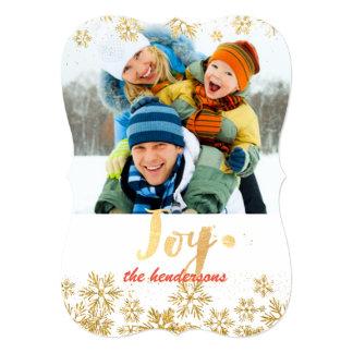 PixDezinesの雪片かgold//holidayカード カード