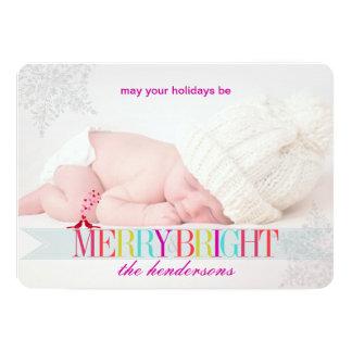 PixDezinesの雪片の休日の写真テンプレート カード