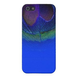 PixDezinesの電気青い孔雀の目 iPhone 5 カバー