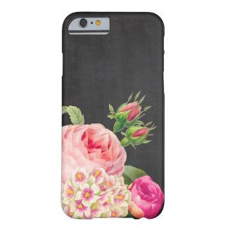 PixDezinesの黒板かヴィンテージのバラ Barely There iPhone 6 ケース