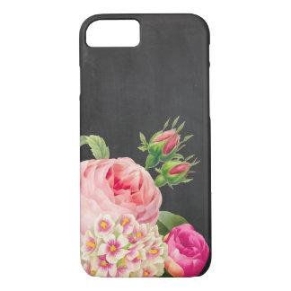 PixDezinesの黒板かヴィンテージのバラ iPhone 8/7ケース